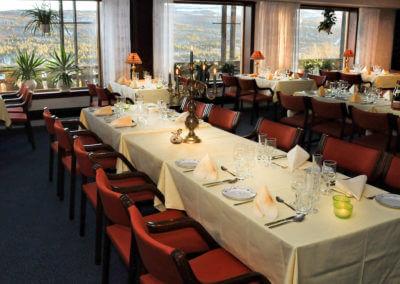 Spisesalen på Dagali Hotel med panoramautsikt