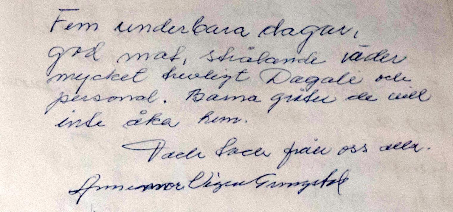 Anmeldelse fra gjestebok Dagali Hotel