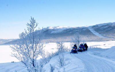 Isbaner og snøscooter