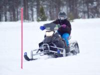 Snøscooter på bane i Dagali, Geilo