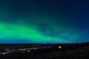 Nordlys over Dagali. Foto: Anne-Kristin Aasberg